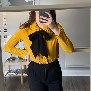 Retro vintage blouse with bow